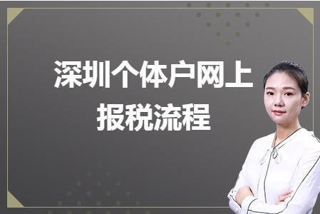深圳个体户网上报税流程