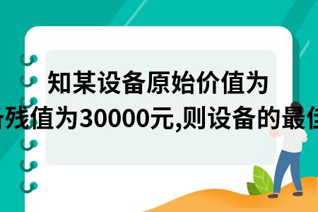 已知某設備原始價值為350000元,每年低劣化增加值為400元,設備殘值為30000元,則設備的最佳更新期為(  )年.