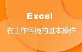 Excel在工作环境的基本操作